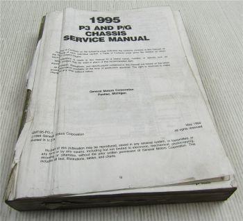 Service Manual Chevrolet Chevy Trucks P3 P/G Repair Manual 1995