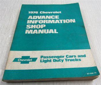 Chevrolet Chevelle Monte Carlo Corvette ... 1976 Advance Information Shop Manual