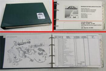 Linde H20 H25 H30 Gabelstapler Ersatzteilkatalog ab Serie 5/80 Ersatzteilliste