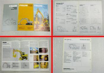 3 Prospekte Faun Mobilbagger FM FR 1024 LC technische Daten von 1980 und 1982