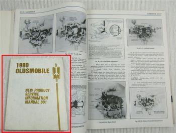 1980 OIdsmobile Starfire Cutlass Delta 88 89 .. New Product Service Information