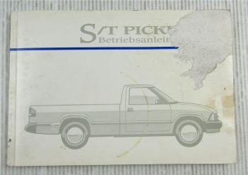 GM GMC Chevrolet S T Pickup Betriebsanleitung 1995