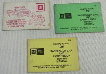 GM Towing Manual Cadillac Chevrolet Pontiac Oldsmobile Buick GMC GEO