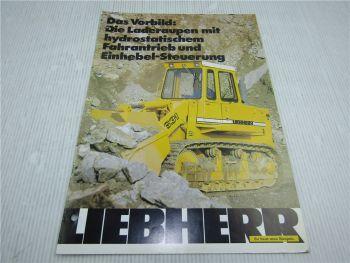 Prospekt Liebherr LR 631 Laderaupe 1981 mit 12 Seiten