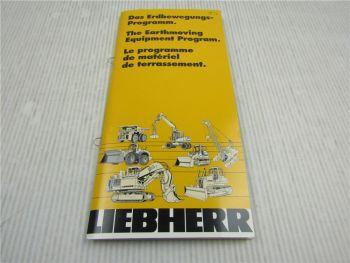 Liebherr Erdbewegungs Programm Earthmoving Equipment Program 1998