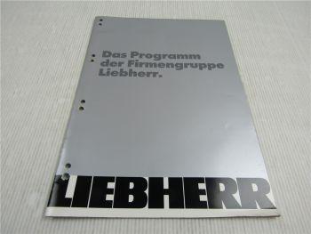 Prospekt Das Programm der Firmengruppe Liebherr 1995