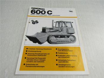 Prospekt Hanomag 600C Laderaupe 147 PS