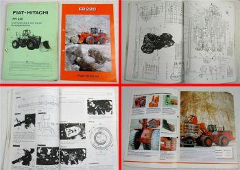Fiat Hitachi FR 220 Radlader Wartungsanleitung Merkmale Reparaturen