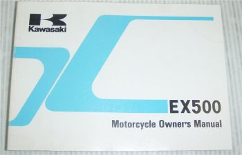 Kawasaki EX500 EX500-A5 Motorcycle Owners Manual 1990 Bedienungsanleitung engl.