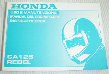 Honda CA125 Rebel Instruktieboek manual del propietario Uso e Manutenzione 1994