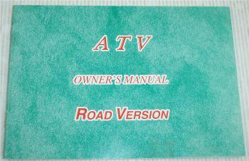 ATV Quad 50 100 ccm Road Version Owners Manual