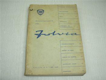 Lancia Fulvia Coupe Fulvia 2C Rallye Sport 818 Werkstattbuch Werkstatthandbuch