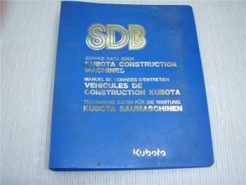 Kubota R510 R510B Service Data Book Pelleteuse Manuel de Donnees DEntretien