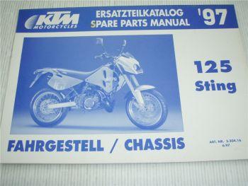 KTM 125 Sting Ersatzteilliste Spare parts List 1997