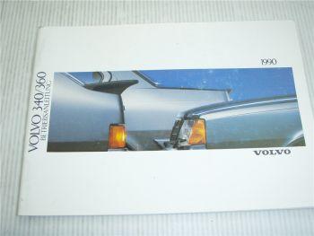 Volvo 340 360 Betriebsanleitung 1990 Bedienungsanleitung