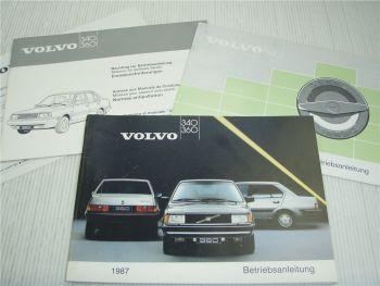 Volvo 340 360 Betriebsanleitung 1987 + Beilagen Diesel 2.0 l Einspritzer