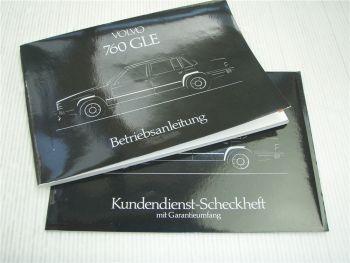Volvo 760 GLE Betriebsanleitung 1983 inkl Scheckheft