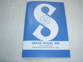 Sachs Diesel 500 Motor Reparaturanleitung Werkstatthandbuch