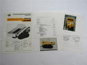 Prospekt Ammann Duomat YFW 5D1 Kompaktraupenkipper und technische Daten