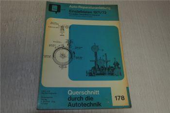 Einstelldaten PKW 1971 1972 Reparaturanleitung Bucheli 178