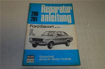 Ford Escort 1.1 1.3 1.6 Mexico RS 2000 Reparaturanleitung Bucheli 280 281