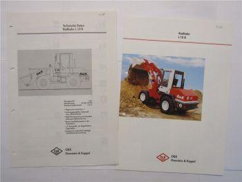 Prospekt O&K L10B Radlader 1998 und technische Daten