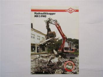 Prospekt O&K Orenstein und Koppel MH City Mobilbagger 1987