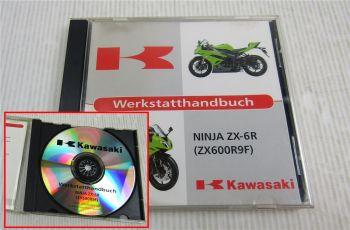 Kawasaki Ninja ZX-6R ZX600R9F Werkstatthandbuch Reparatur CD 2008