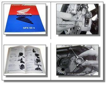 Honda SFX50S SFX50W Werkstatthandbuch ab 1995 Reparaturanleitung