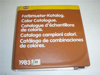 Audi 80 Coupe 100 Avant Farbmuster Katalog 1983 1984 Color Catalogue