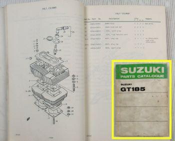 Suzuki GT185 K L M A  Motorcycles E1 Spare Parts Catalogue List 1975