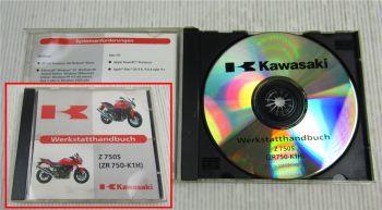 Kawasaki Z750S ZR750-K1H Werkstatthandbuch Reparaturhandbuch CD