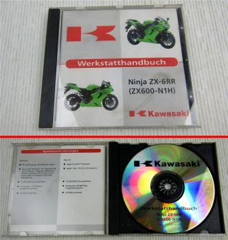 Kawasaki Ninja ZX-6RR ZX600-N1H Werkstatthandbuch Reparaturhandbuch CD