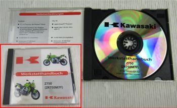 Kawasaki Z750 ZR750M7F Werkstatthandbuch Reparaturhandbuch CD