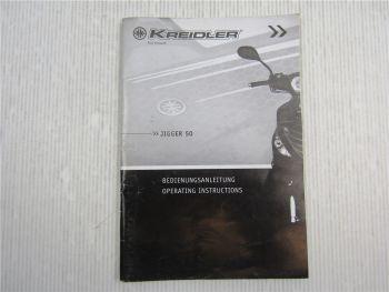 Kreidler Jigger 50 Bedienungsanleitung Operating Instructions 12/2009