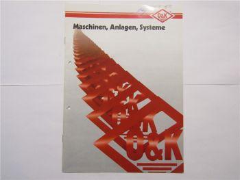 Prospekt O&K Maschinen Anlagen Systeme 1990 Schaufelradbagger Umschlaganlagen
