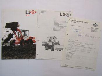 Prospekt O&K L5 Radlader 1986 Datenblatt Technische Daten Preisangebot