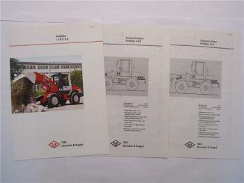 Prospekt O&K L6 L8 B Radlader 1997 und Datenblätter technische Daten 1997/98