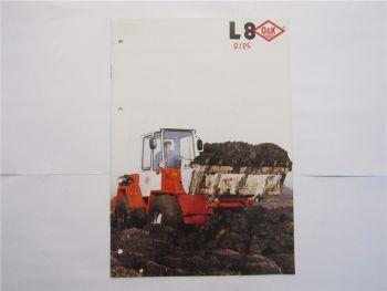 Prospekt O&K L8 Radlader technische Daten Brochure technical data 1986
