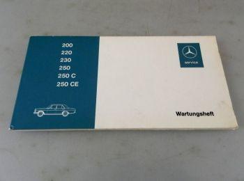 Mercedes Benz 250C /8 Typ 114 Wartungsheft Scheckheft mit Eintragungen