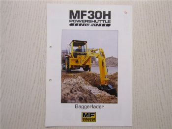 Prospekt Massey Ferguson MF30H powershuttle Baggerlader 1988