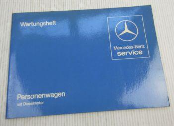 Mercedes Benz 200 240 300 D TD  W123 Wartungsheft blanko Scheckheft