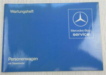 Mercedes Benz 200 240 300 D TD Turbo Diesel W123 Wartungsheft Scheckheft