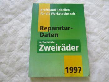 Krafthand Tabellen für die Werkstattpraxis Reparaturdaten Zweiräder 1997