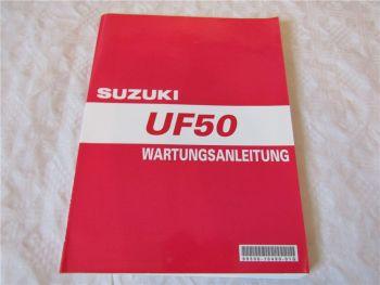 Suzuki UF50 Werkstatthandbuch Wartungsanleitung Reparaturhandbuch von 2000