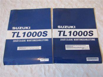 2x Suzuki TL1000S Ergänzung Nachtrag zum Werkstatthandbuch 1997 1998