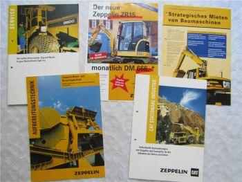 5 Prospekte Zeppelin ZR15 Aufbereitungstechnik Cat Stationäre Industrie Service