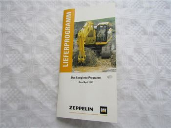 Prospekt Zeppelin Lieferprogramm 1992 Bagger Lader Dozer LKW Spezialmaschinen