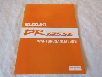 Suzuki DR125 SE Werkstatthandbuch Reparaturanleitung Reparaturhandbuch von 1994