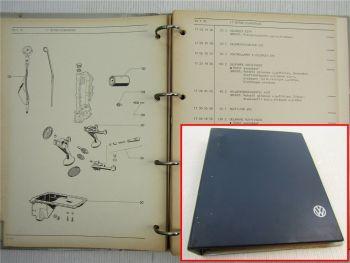 VW K70 Arbeitspreisliste Instandhaltung Instandsetzung 1974 Werkstatthandbuch